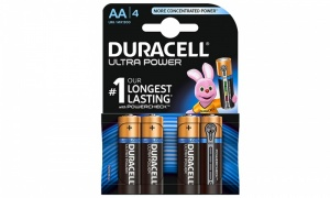 Duracell Ultra MX1500 Alkaline AA Batteries - 4-Pack